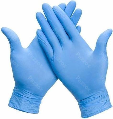 Gants Xlarge Hy@pro Nitrile Bleu Non Poudré 100 Pièces