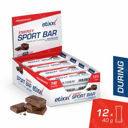 Etixx Energy Sport Bar Chocolate 12x40g