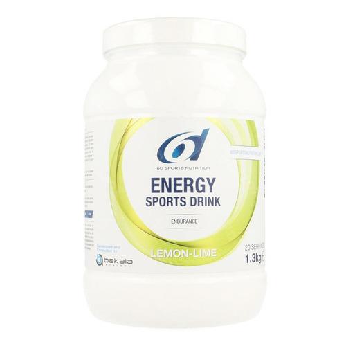 6d Sports Nutrition Energy Sports Drink Lemon Lime Pdr 1,3kg
