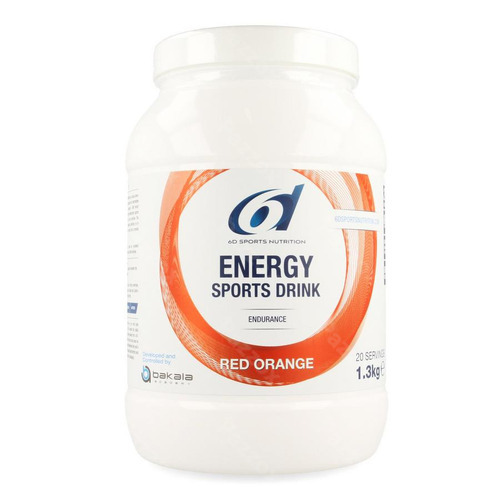 6d Sports Nutrition Energy Sports Drink Red Orange 1.3kg
