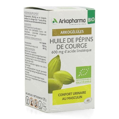 Arkogelules Huile Pepins Courge Bio Caps 60