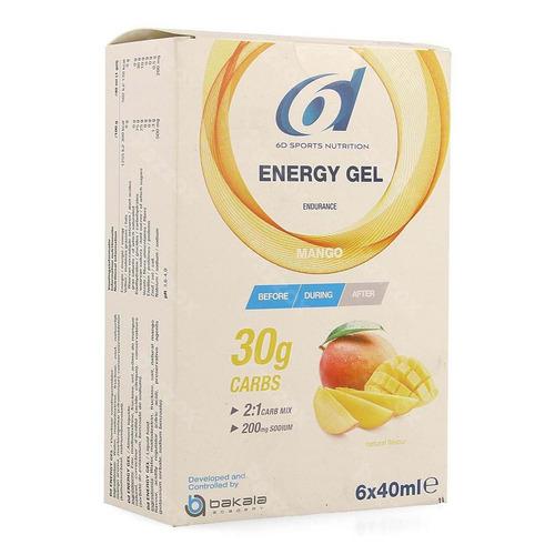 6d Sports Nutrition Energy Gel Mango 6x40ml