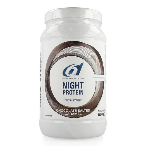6d Sports Nutrition Night Protein Chocolate Salted Caramel 520g